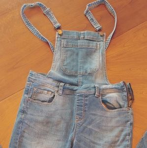 Faded wash overalls